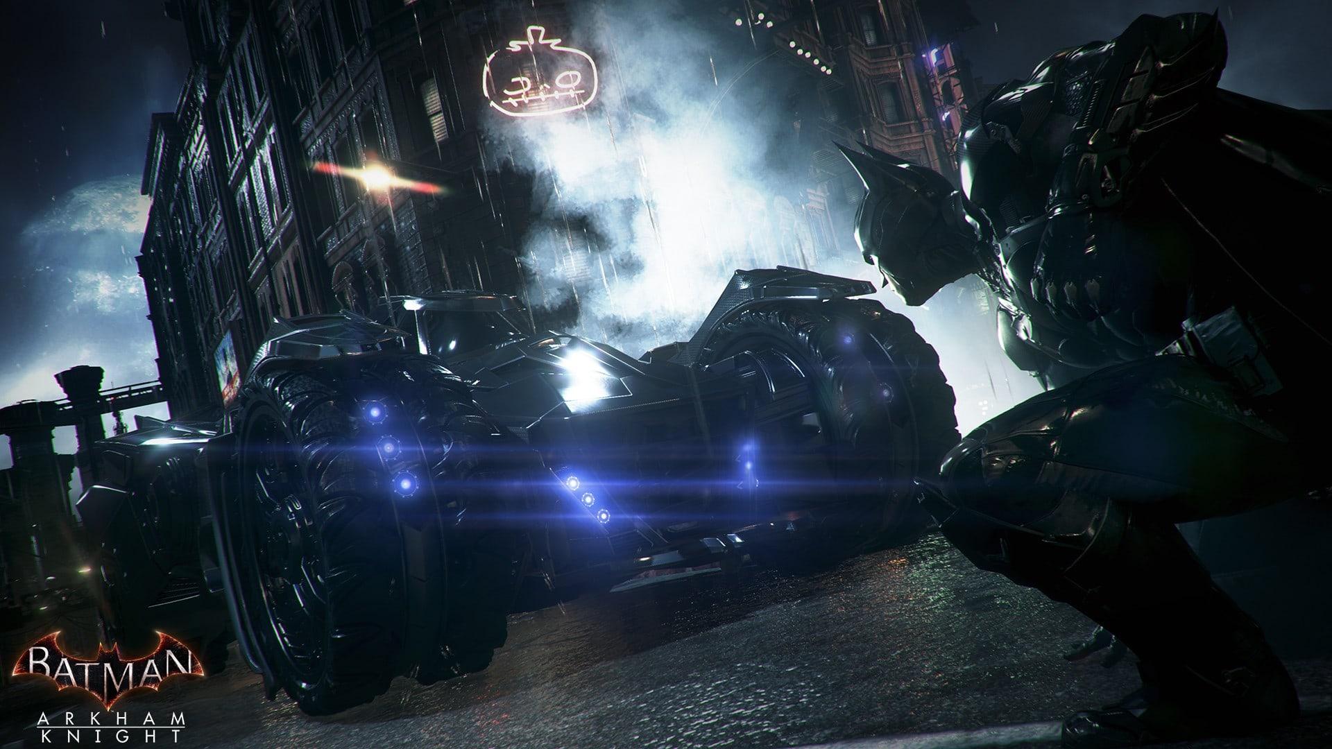 Batman Arkham Knight Batmobile HD desktop wallpaper